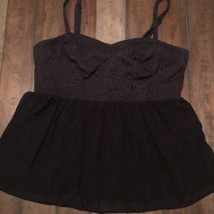 Torrid babydoll corseted top